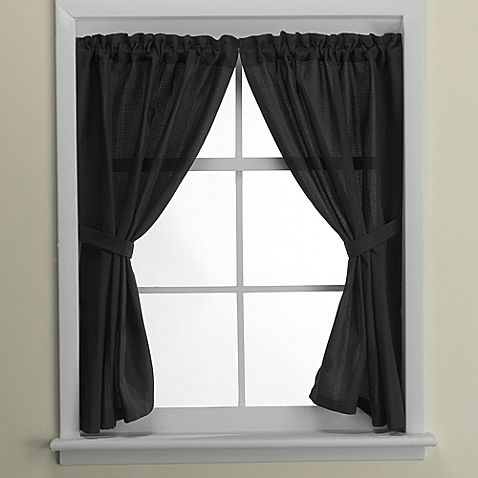 Black Window Curtains Google Search Bathroom Window Curtains Bathroom Windows Bed Bath And Beyond