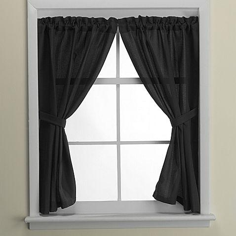 Black Window Curtains Google Search Bathroom Window Curtains