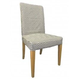 Henriksdal Dining Chair Slipcover, IKEA Henriksdal Cover, Henriksdal Cover  In Steel Trail Print From