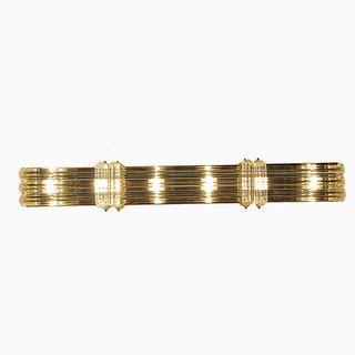 Overstockcom Contemporary Light Polished Brass BathVanity - Polished brass bathroom vanity light fixtures