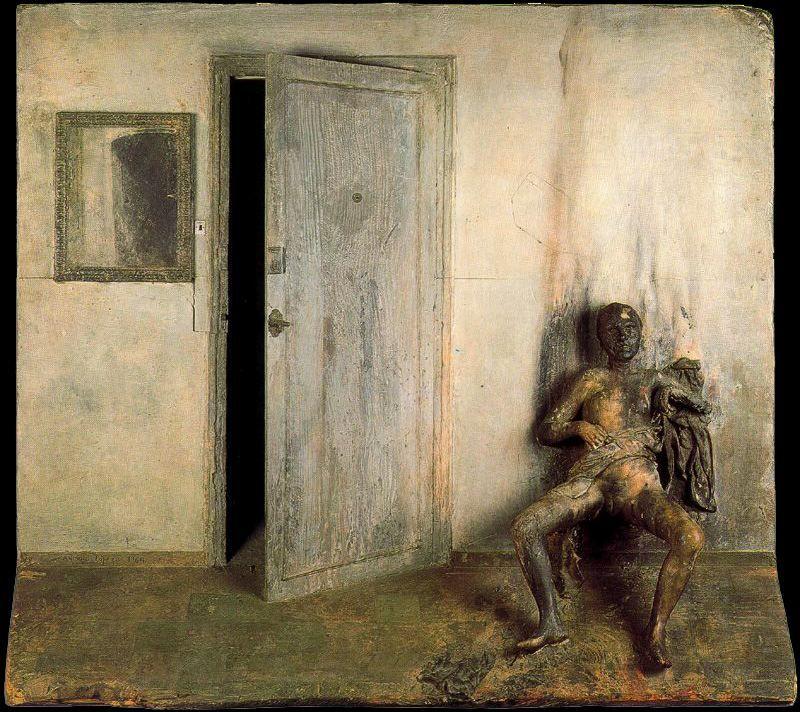 Mujer quemada. 1964. Obra de Antonio López García