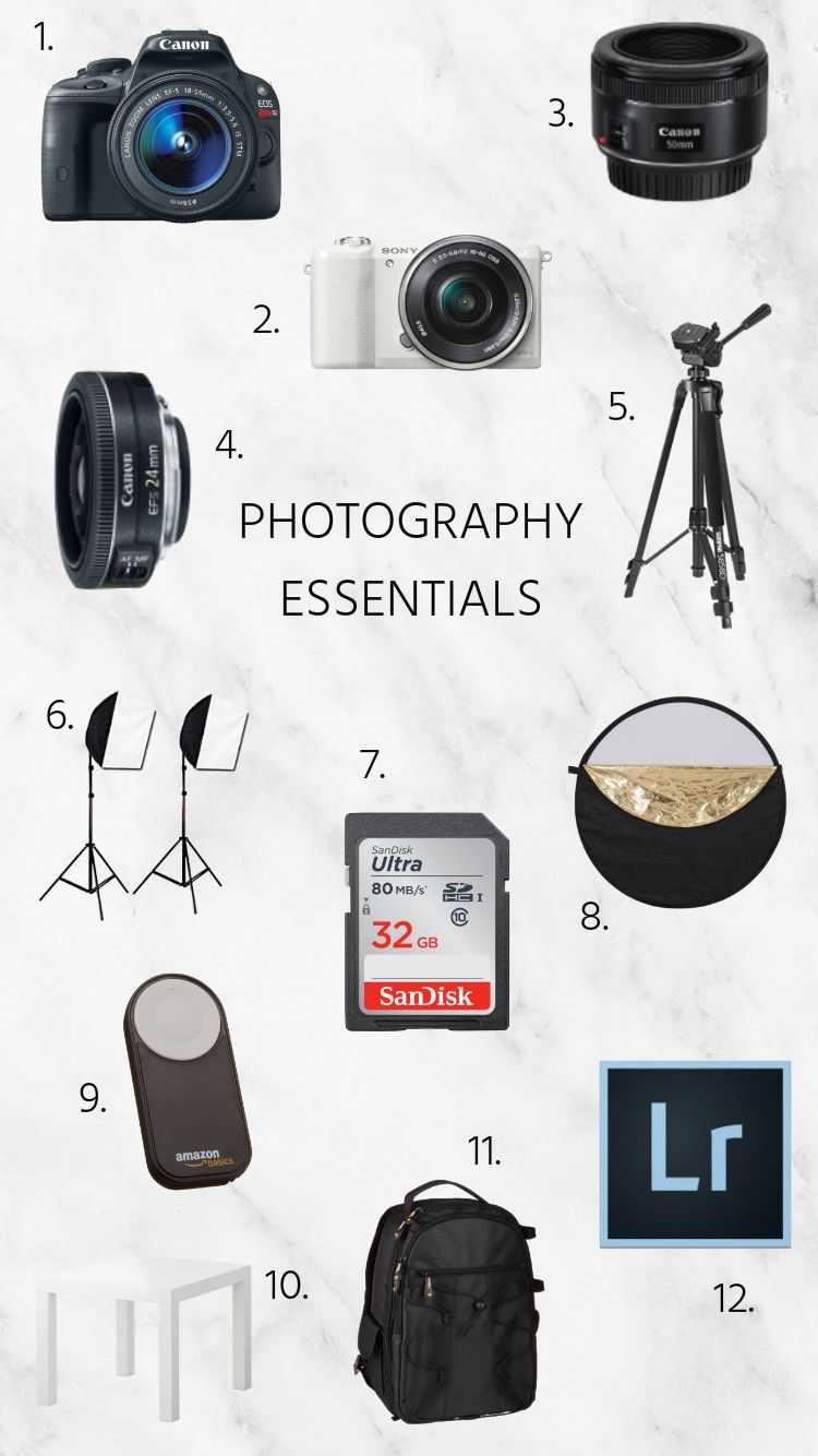 Our Photography Essentials | Photography essentials, Digital ...