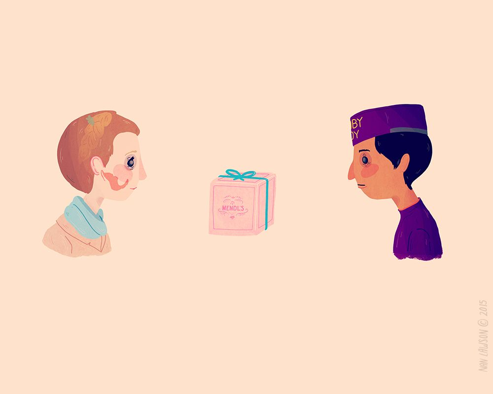 Grand Budapest Hotel Quotes Nan Lawson  Ilustraciones  Pinterest  Grand Budapest Hotel Wes