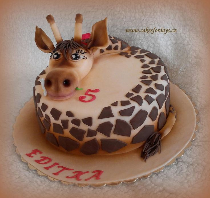 Bildergebnis fr giraffe birthday shaped cake Giraffe Birthday