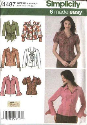 Simplicity Sewing Pattern 4487 Misses Size 8-16 Easy Button Front ...