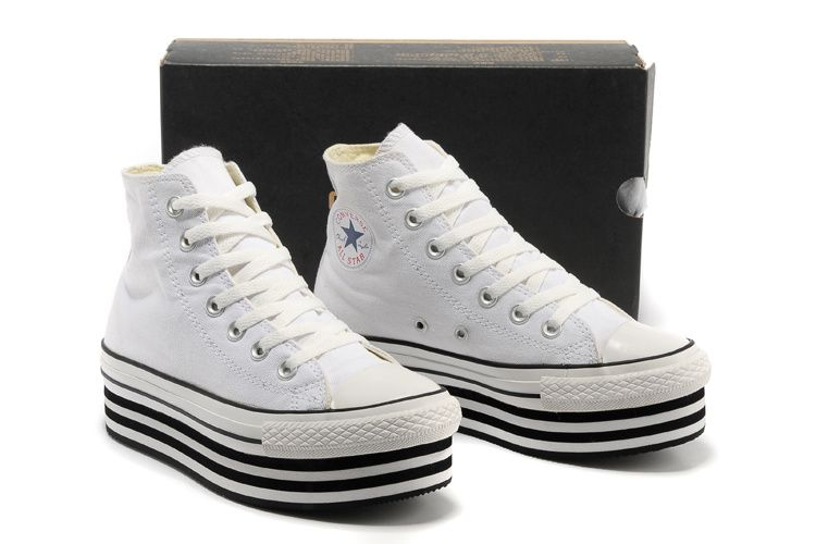 1a0fa0ac99af Converse Chuck Taylor All Star White Double Platform High Tops Canvas Women  Sneakers  converse  shoes