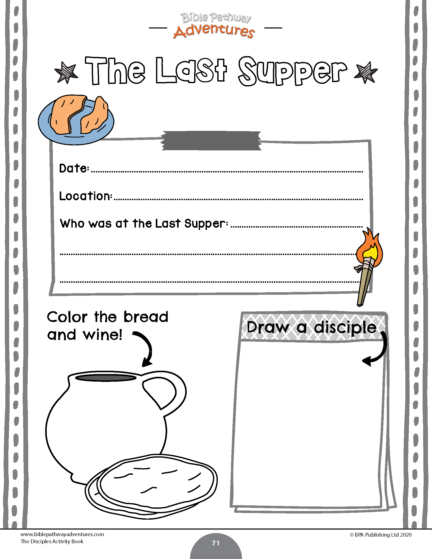 The Disciples Activity Book In