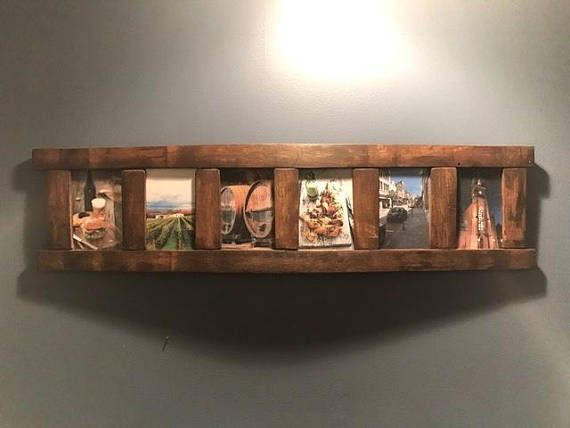 Bourbon Barrel Stave Multi Picture Frame Etsy Barrel Decor Barrel Stave Wine Barrel