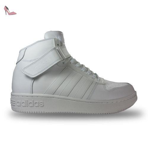Chaussure Team Court Mid adidas blanche - blanc, 42 2/3 ...