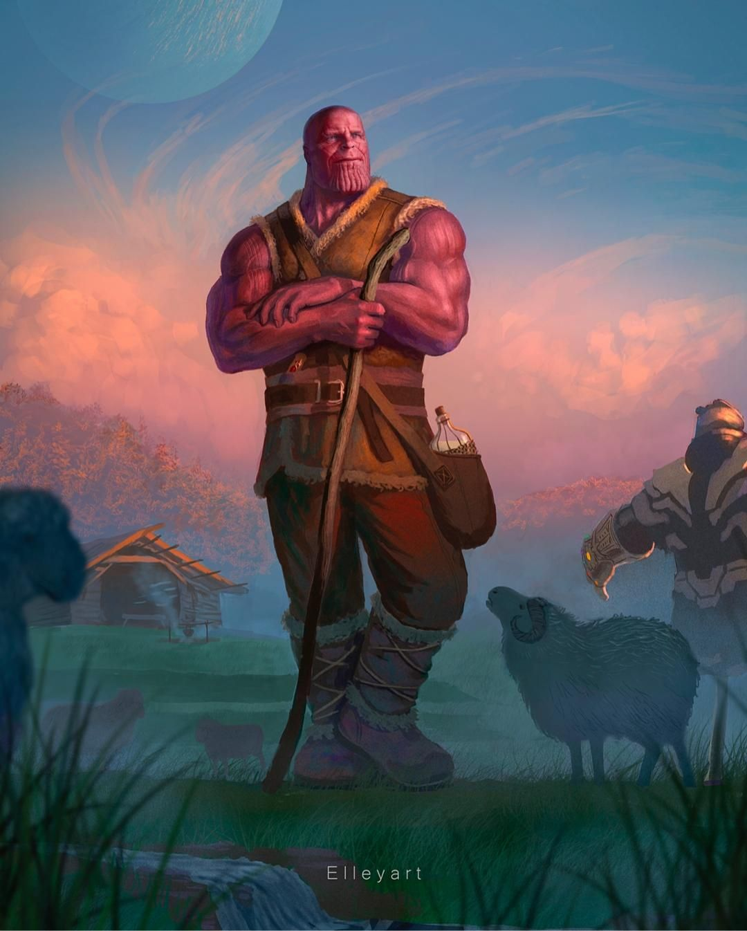 Farmer Thanos by @elleyart on Instagram  Could we see this