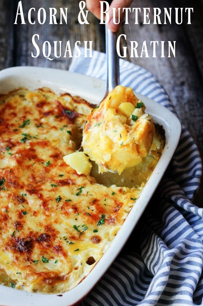 "This Acorn and Butternut Squash Gratin Casserole is made ""Provencal style"" w..."