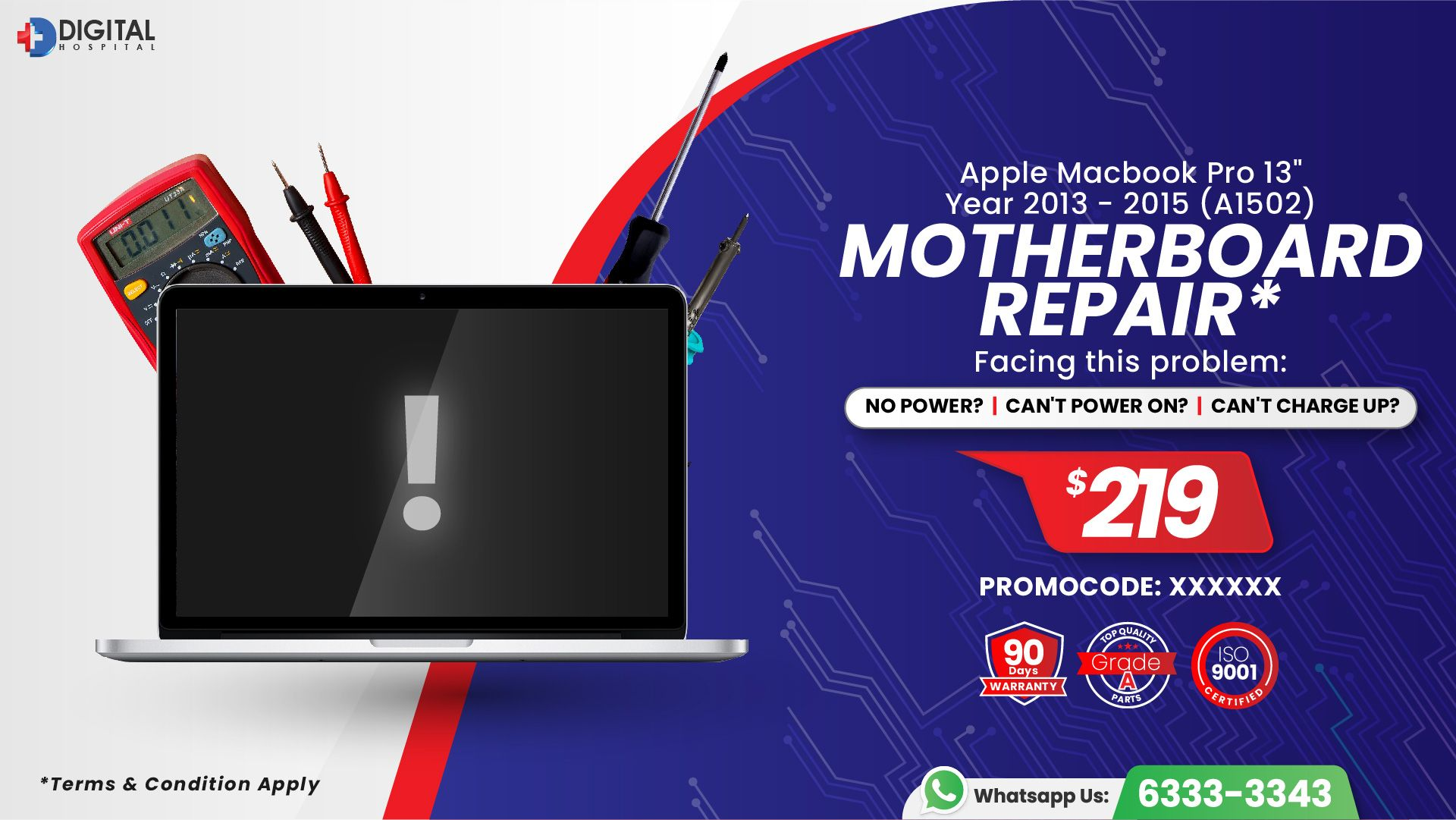 Applecare for your Macbook Pro and Air at our service