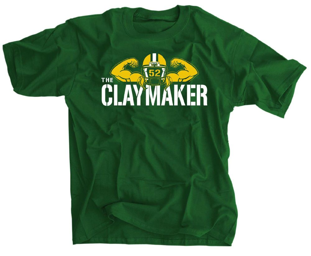 The Clay Maker Shirt Green Bay Packers 52 Jersey T Shirt Clay Matthews Hanes Green Bay Packers Shirts Clay Matthews Green Bay Packers