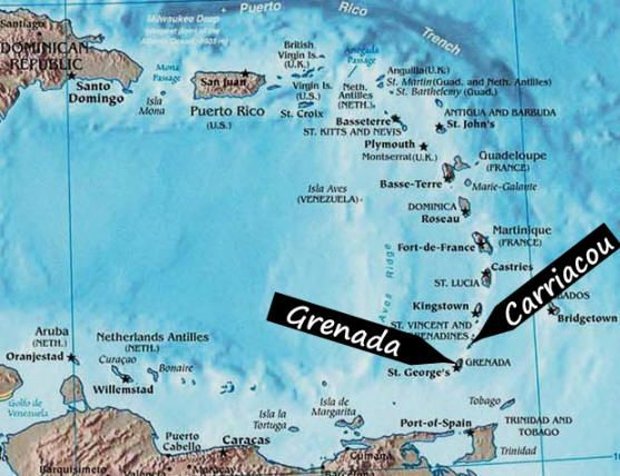 Carriacou Grenada Caribbean Green Green Grenada Carriacou and