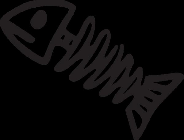 387ca Cartoon Fish Bones Fish Clipart Fish Drawings Fish Skeleton
