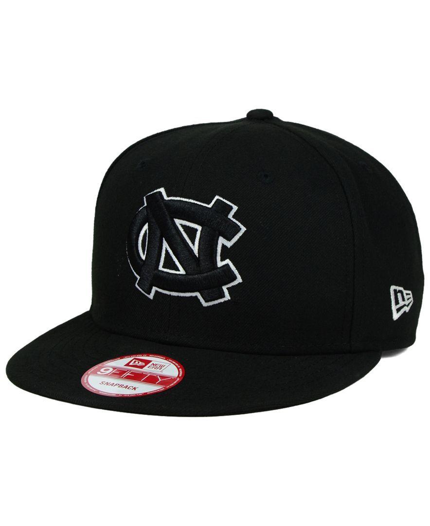 finest selection 059a8 7eb69 New Era North Carolina Tar Heels Black White 9FIFTY Snapback Cap