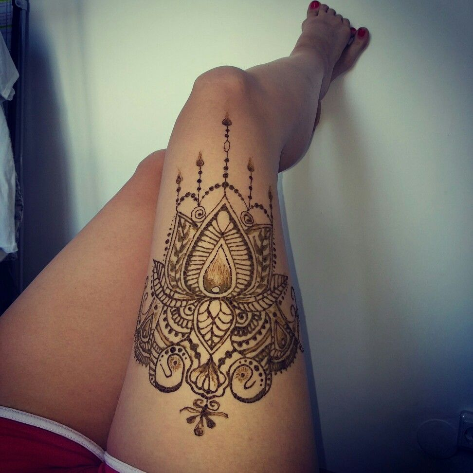 Thigh Henna Henna Henna Tattoos Henna Tattoo Designs
