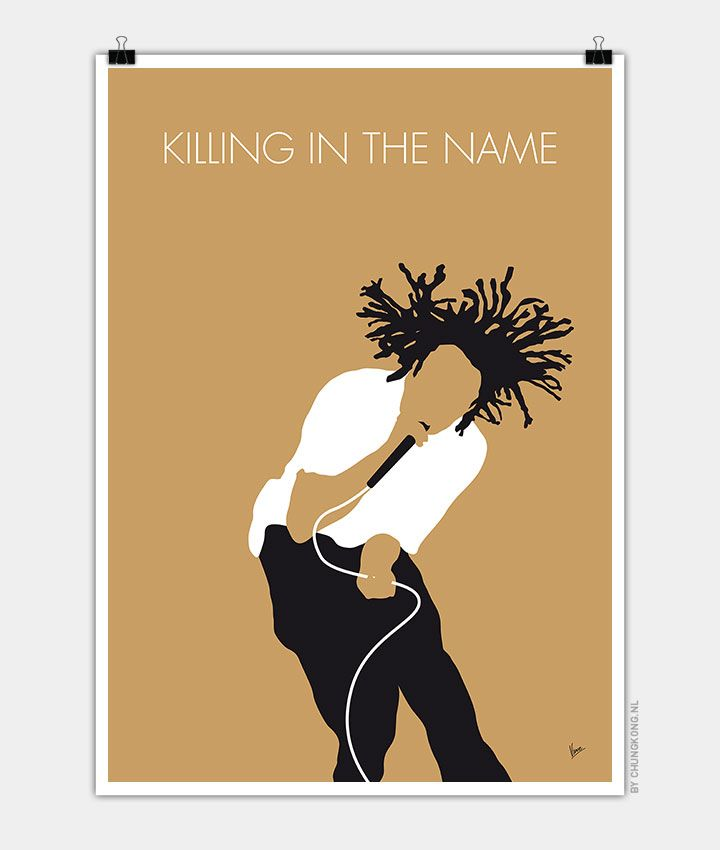 No100 MY Rage Against The Machine Minimal Music Poster