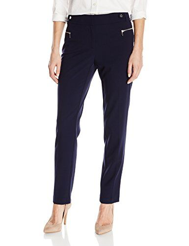 Calvin Klein Women's Slim Fit Dress Pant with Zipper Hard-$55.99