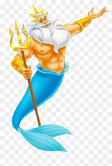 Merman Holding Staff Illustration Ariel King Triton Sebastian Queen Athena Ariel The Lit Disney Princess Pictures The Little Mermaid Ariel The Little Mermaid