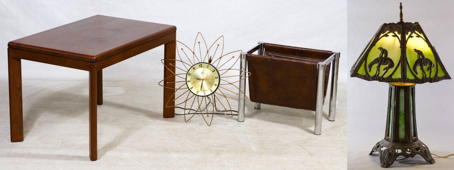 Lot 513: Mid-Century Modern Style Teak Table by Steelcase