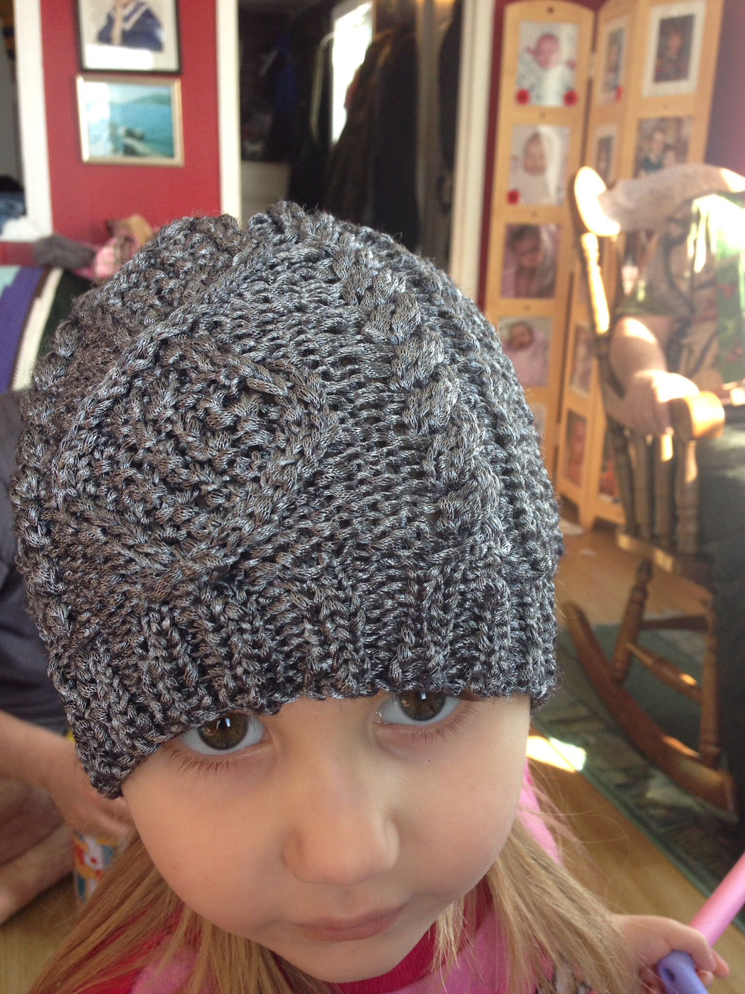Cable beanie; knit; Patons Metallic   Beanie, Winter hats ...