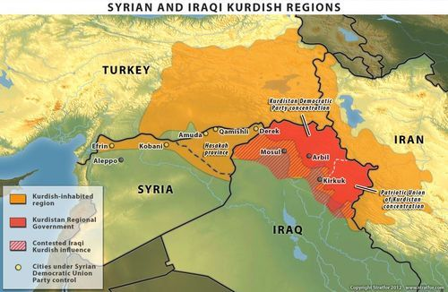 mapsontheweb: Kurdish regions of Syria, Iraq, and Turkey ...