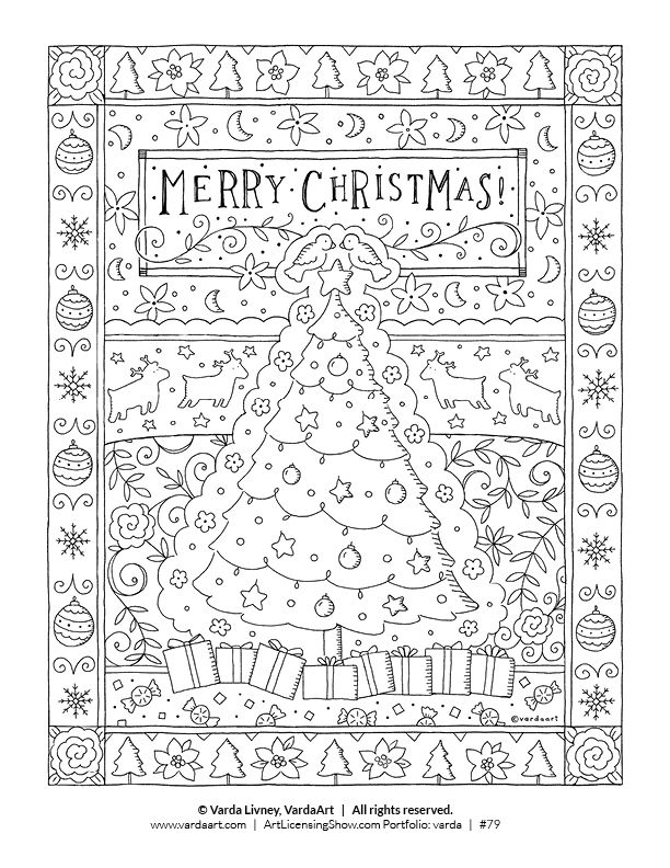 Free 92 Page Holiday Coloring Book | English | Pinterest | Coloring ...
