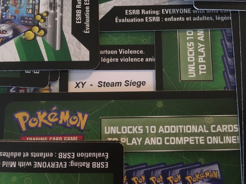10 x MIXED Sun and Moon XY Online Booster Codes Pokemon TCGO