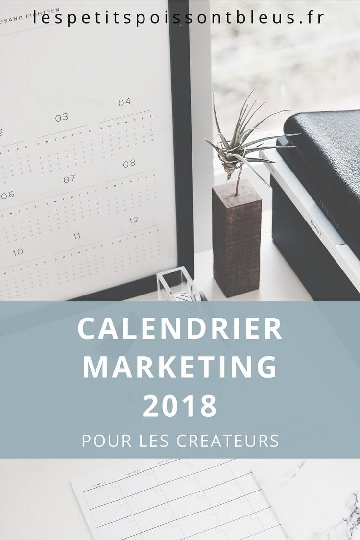 Calendrier marketing 2018 pour les créateurs