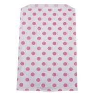 10 Papiertüten mit rosa Punkten