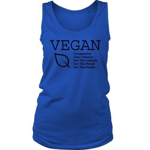 Vegan For Animals, Planet, People Women's Tank