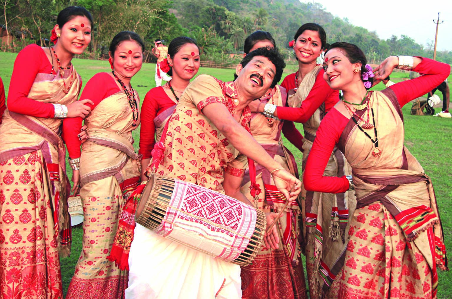 Mukoli Bihu (Mukoli Open, Open field Bihu Dance) in 2019