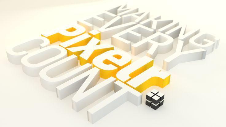 3D Typography wallpaper for Pixelr brand #3D #typography #render #wallpaper #ble   Doodles & Work #3dtypography