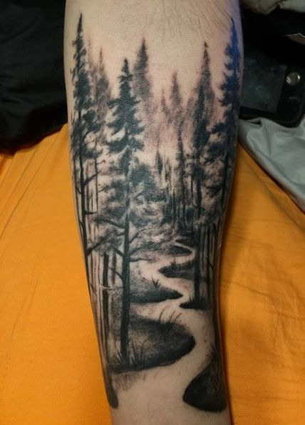 55 Ideas For Nature Tattoo Sleeve Wolf