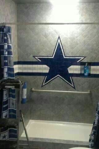 Dallas Cowboy Tile Design | Dallas cowboys decor, Dallas ...