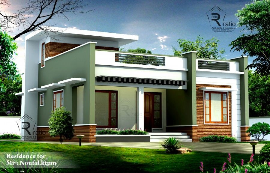 Nice 1100 Sq Ft Contemporary Style Single Story Home Design