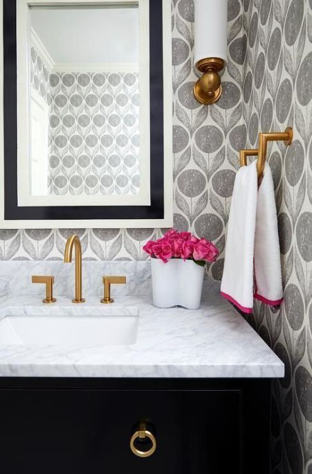 29 Fabulous Wallpaper Ideas to Try for Your Powder Bathroom (Part 1)