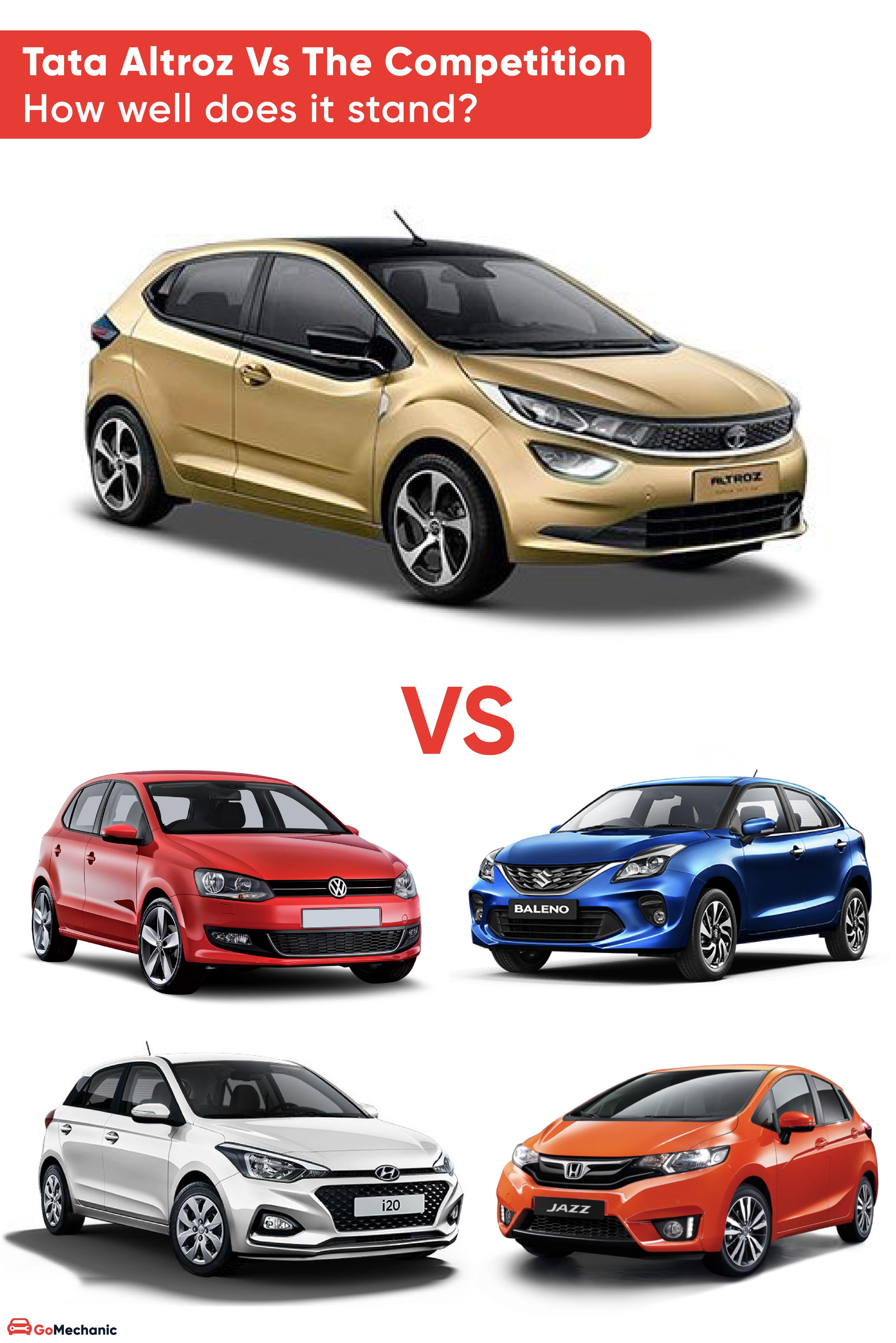 Tata Altroz Vs Rivals Tata Standing Hatchback