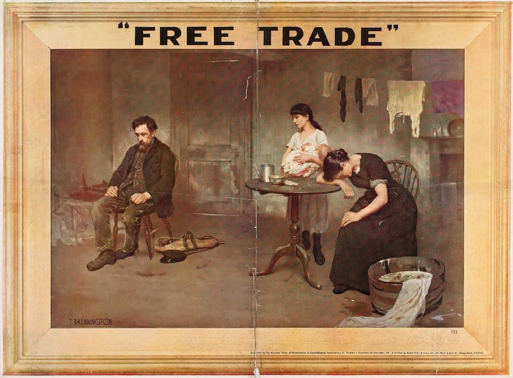 Free trade 1920s conservative party poster party