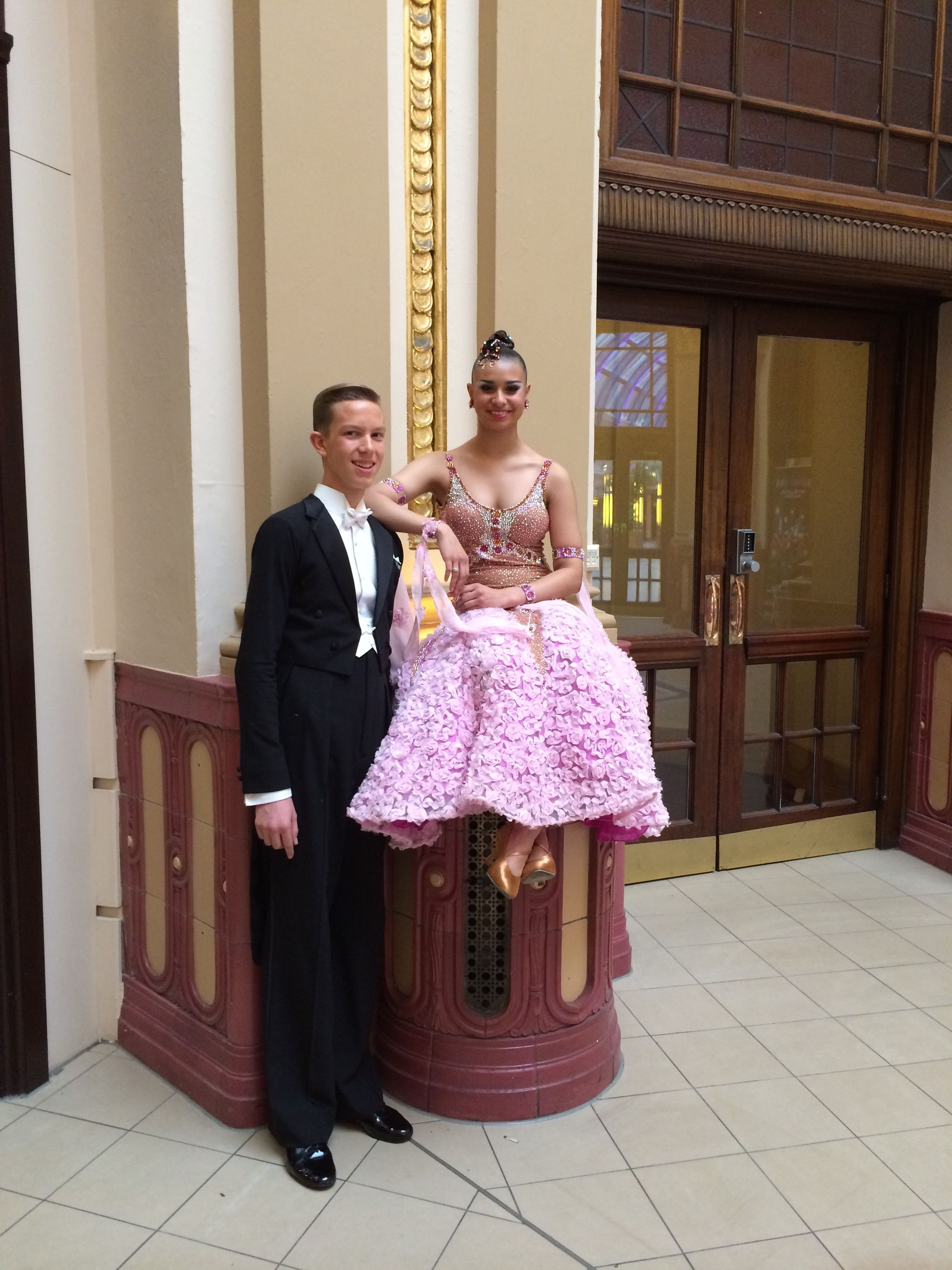 oliver and hannah at the winter gardens junior blackpool 2014