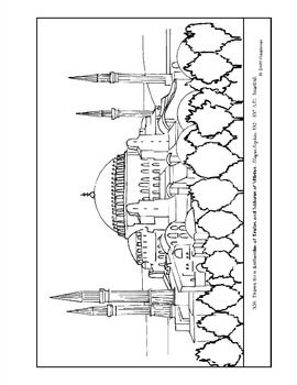 Hagia Sophia Coloring Page And Lesson Plan Ideas Coloring Pages