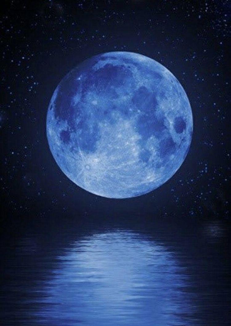Blue Moon Blue Aesthetic Dark Blue Moon Android Wallpaper Blue