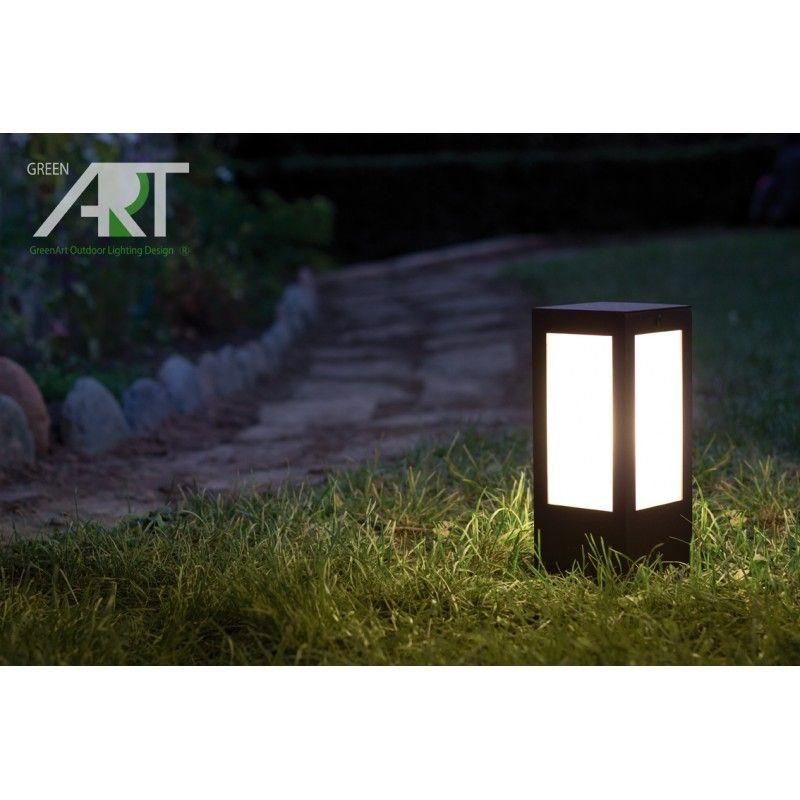 Baliza Para Jardin Prisma Luminarias Para Exterior Lamparas De - Luminarias-para-jardin