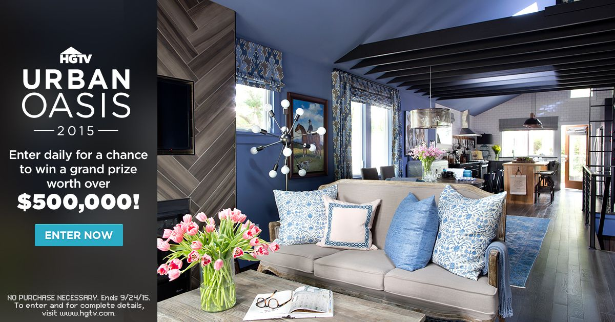 Enter the HGTV Urban Oasis Sweepstakes for your chance to win a ...