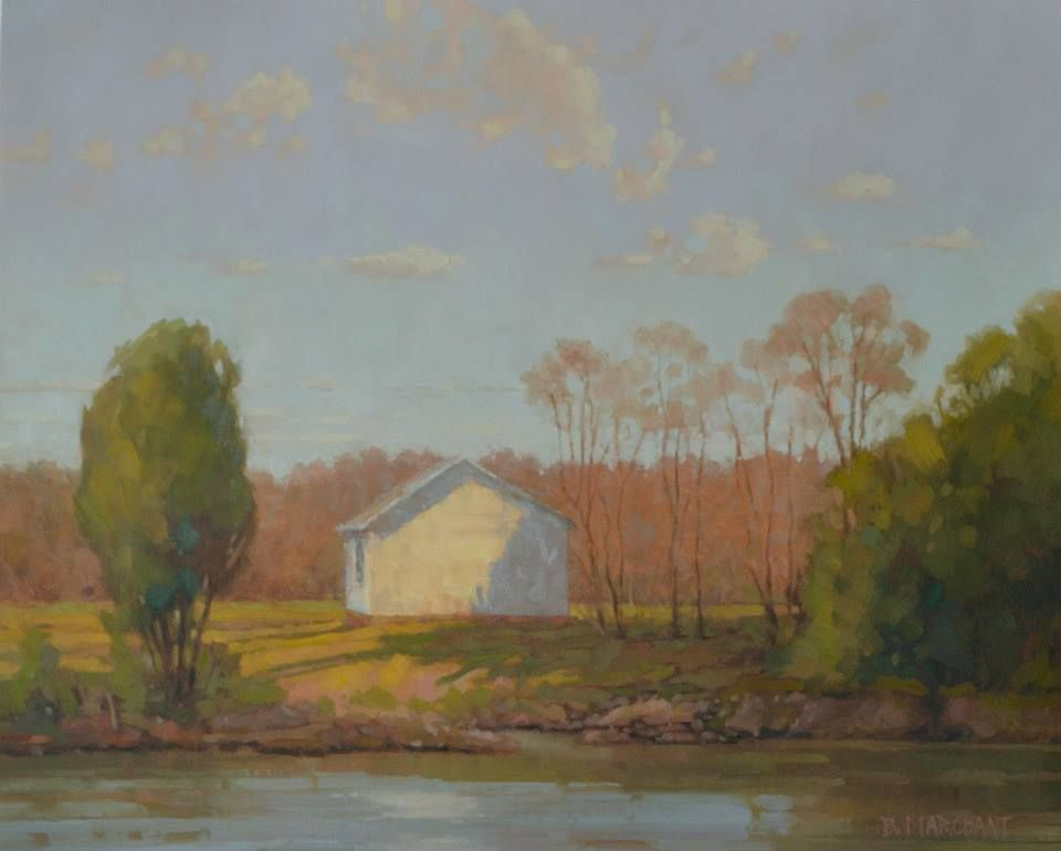"""""""The Shed at Henry's Creek"""" Beth Marchant 20"""" x 24"""" Oil #art #artwork #paint #artist #painting #fineart #oil #oilpainting #braziergallery #bethmarchant"""