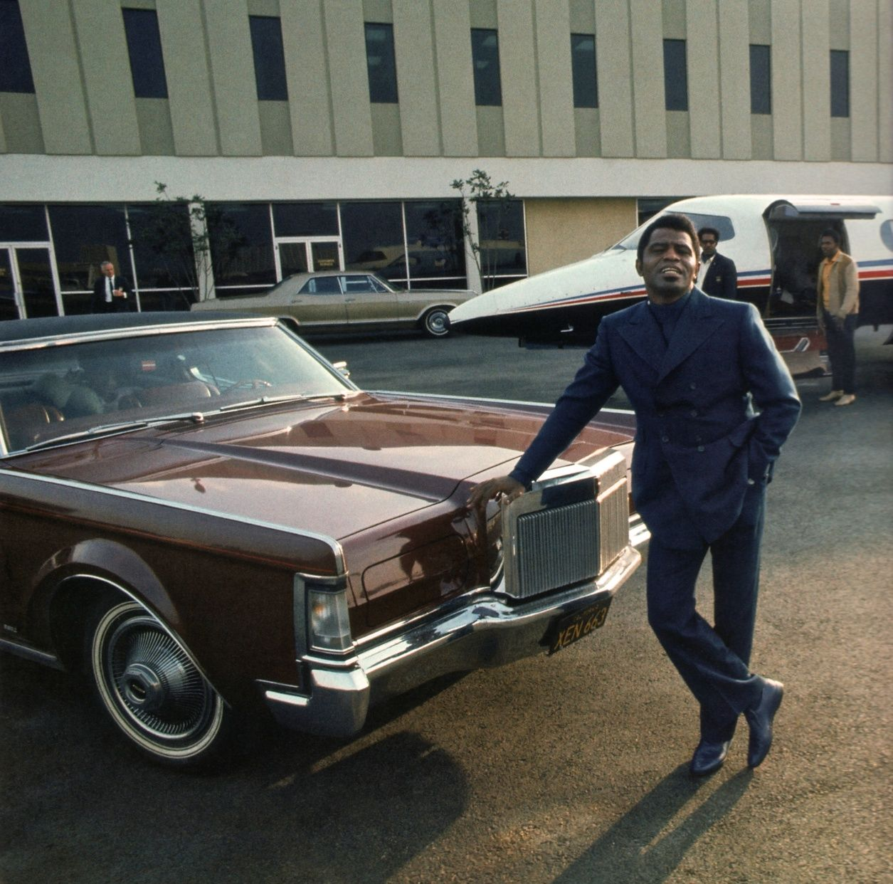 James Brown With His Lincoln Continental Mark Iii Coupe Cars