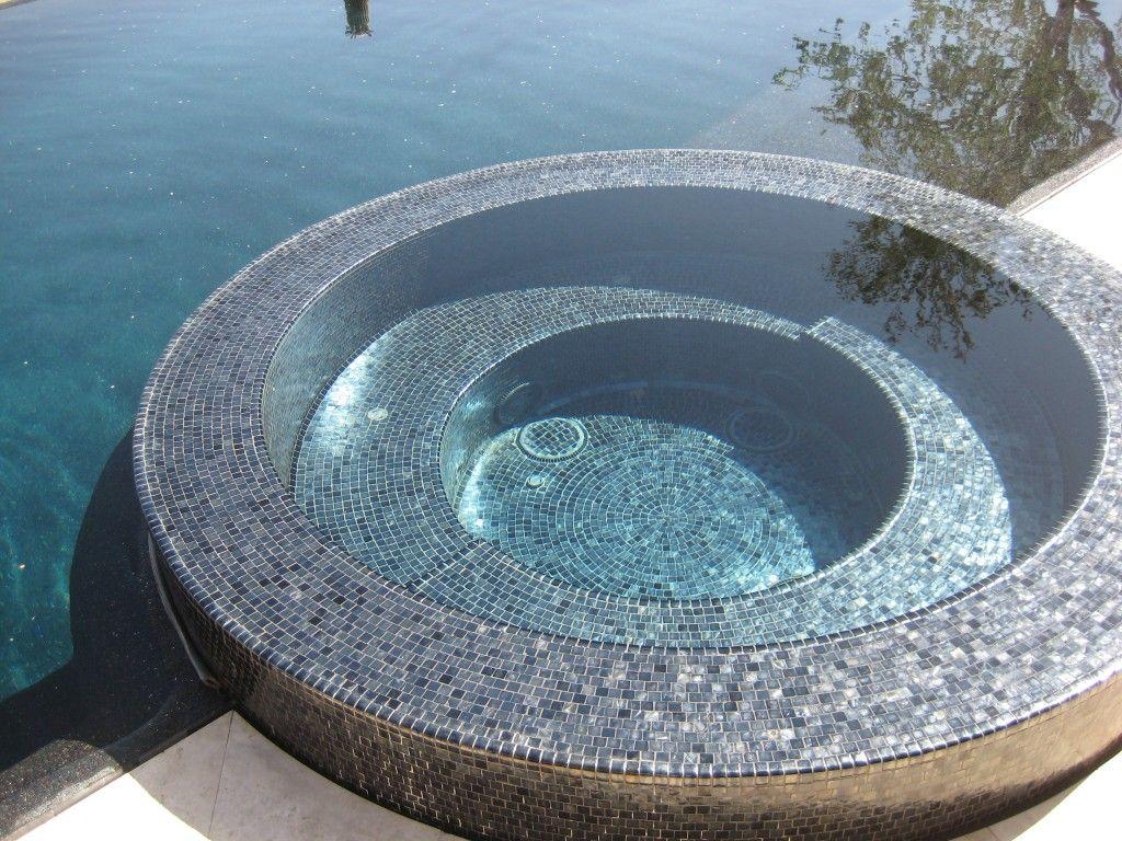 Mosaic Tile Pool And Spa.