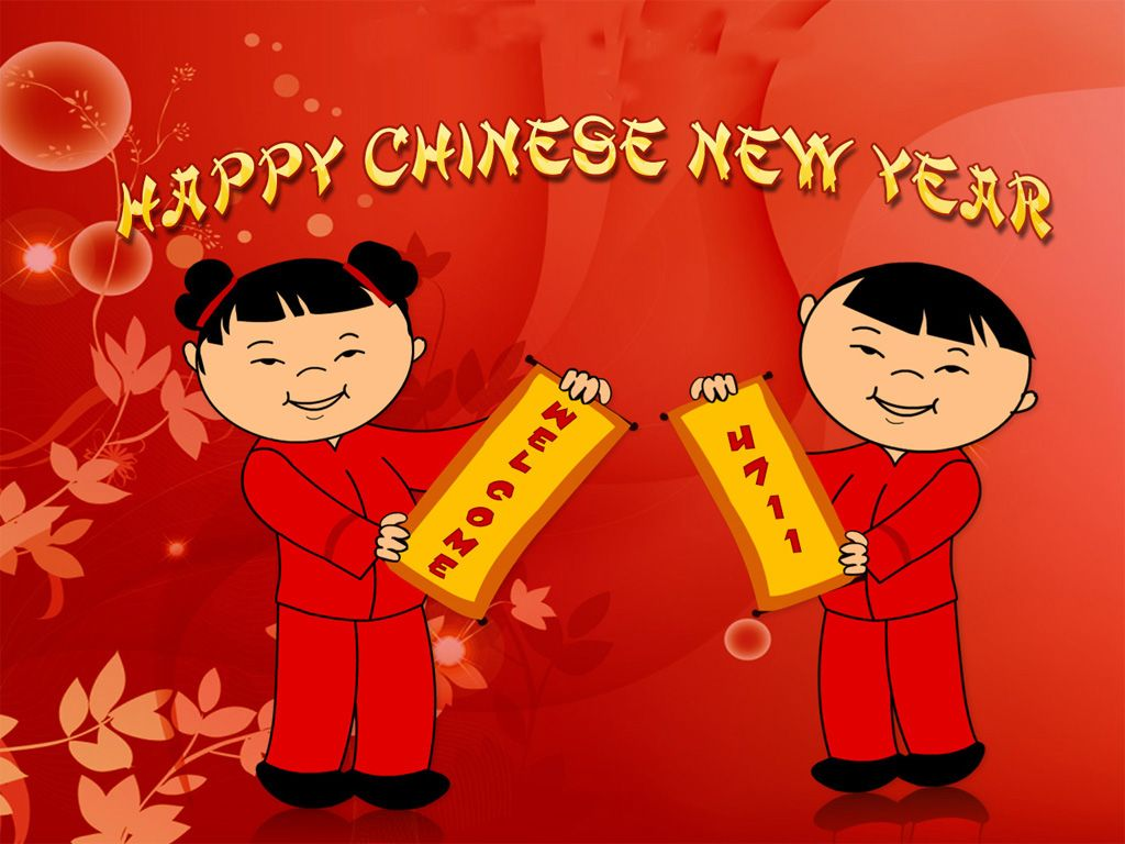 Greeting Cards Chinese New Year With Pictures The Children Chinese