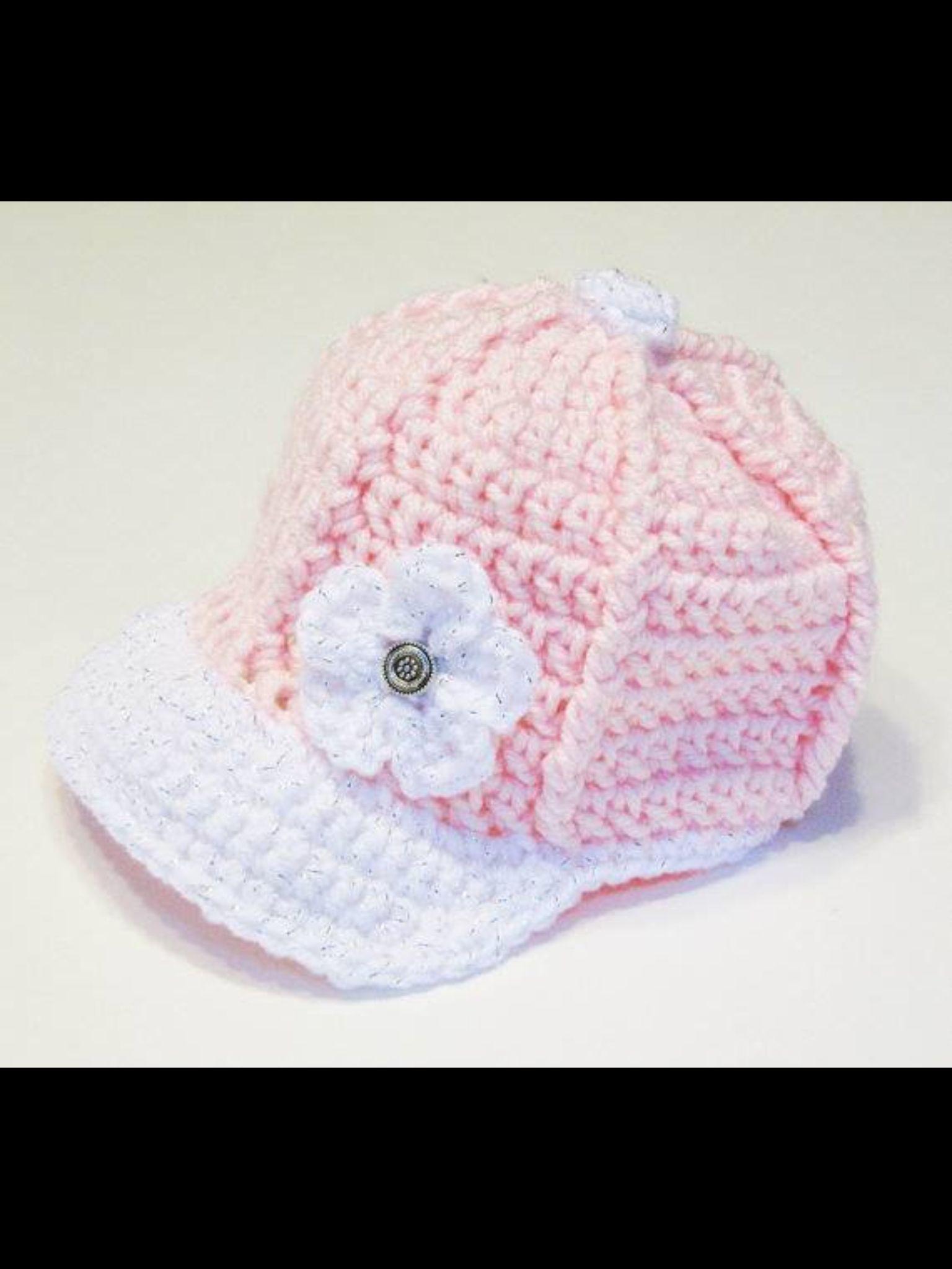 Cute Basecap | crochet | Pinterest | Basecap, Mütze und Kinderhüte ...
